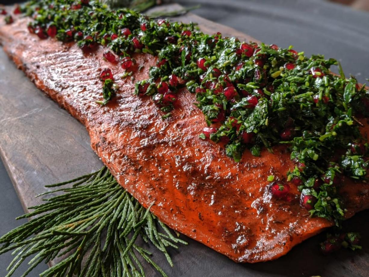 Crave Catering's nontraditional Thanksgiving offerings include applewood-cured salmon.