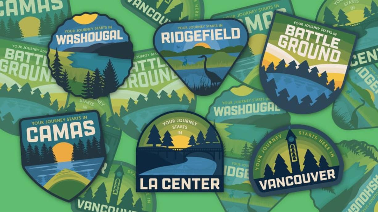 The Columbia River Economic Development Council launched a campaign called Just North to attract businesses and workers to Clark County. This graphic was created by Revere Creative design agency in Vancouver.
