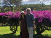 Sue Vanlaanen and her husband, Mike Koon, spent last Thanksgiving in Hawaii. This year, they will spend the holidays at home, apart from most of their family as a safety precaution. Koon has Alzheimer's, and the pandemic has been particularly hard for him to understand.
