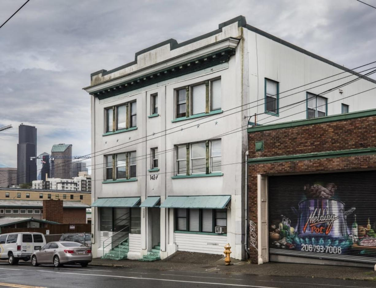The 1426 Project building in the shadow of downtown Seattle that, when up and running, will be a collaborative project offering help to people returning home from prison and those dealing with addictions and homelessness to rebuild their lives.