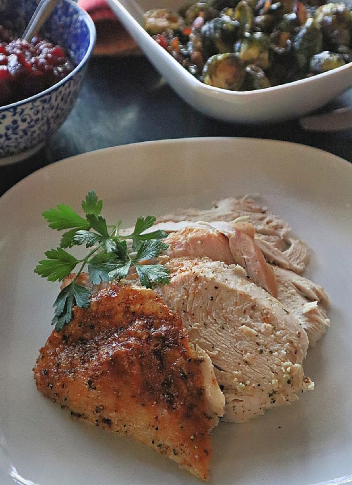 A full or split turkey breast is a great option for smaller crowds and inexperienced cooks on Thanksgiving.