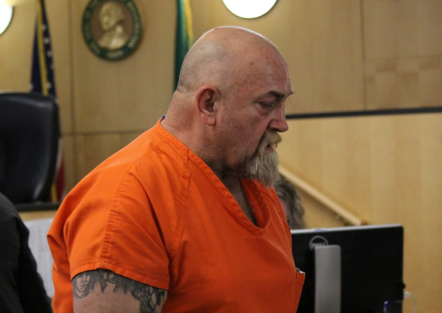 Michael Evan Ross-Morales, 61, appears in Clark County Superior Court in May 2019.