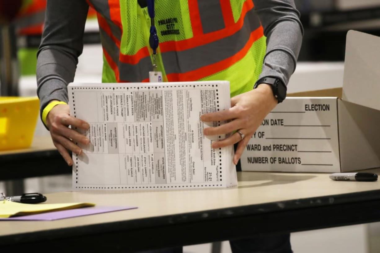 Election workers count ballots on November 04, 2020 in Philadelphia, Pennsylvania.