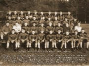 Members of the 1937 Camas High School football team included Don Gigler, John Gfeller, Frank McKever, Fred Parsons, Harry Rietze, Emmett Scott, Tom Barker, Waldon Dailey, Hugh Knapp, Marvin Leathlean, Leslie Ludahl, Warren McNett, Clayton Myers, George Repman, Ben Straub, Bob Williams, Cliff Woodman, Albert Craig, DeForrest Hobson, Ray Hobson, Bud Meyers, Tracy Murphy, Jim Newquist, Ray O'Dell, Howard Olson, Omar Rhode and Harold Robertson.