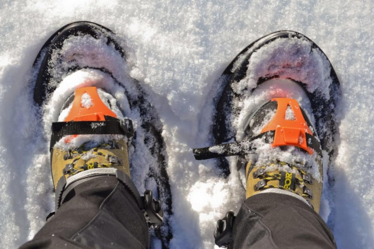 With snow and the added surface area of snowshoes, a hike can be a little more tiresome.