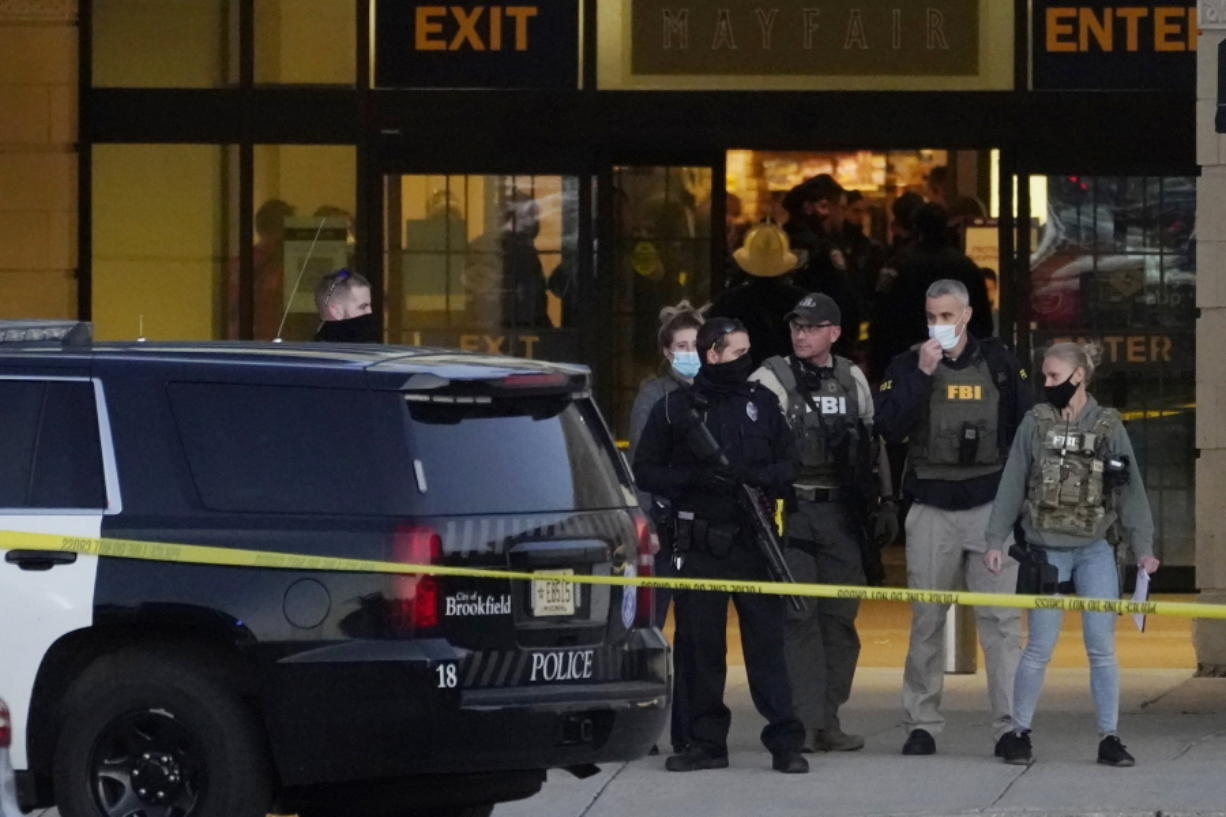 Wauwatosa Police chief Barry Weber speaks at a news conference, Friday, Nov. 20, 2020, in Wauwatosa, Wis. Multiple people were shot Friday afternoon at the Mayfair Mall in Wauwatosa, Wis., and police are still searching for the shooter. (AP Photo/Nam Y.