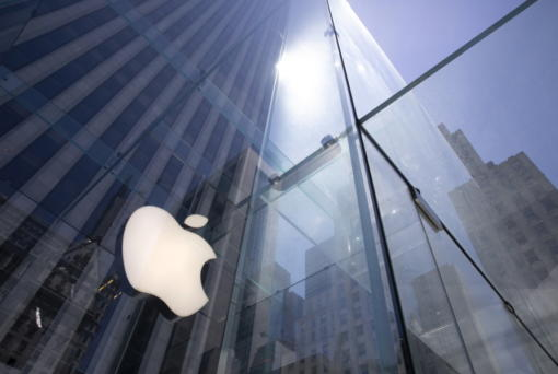 FILE - In this Tuesday, June 16, 2020 file photo, the sun is reflected on Apple's Fifth Avenue store in New York. In the years since Barack Obama and Joe Biden left the White House, the tech industry's political fortunes have flipped. Facebook, Google, Amazon and Apple have come under scrutiny from Congress, federal regulators, state attorneys general and European authorities.