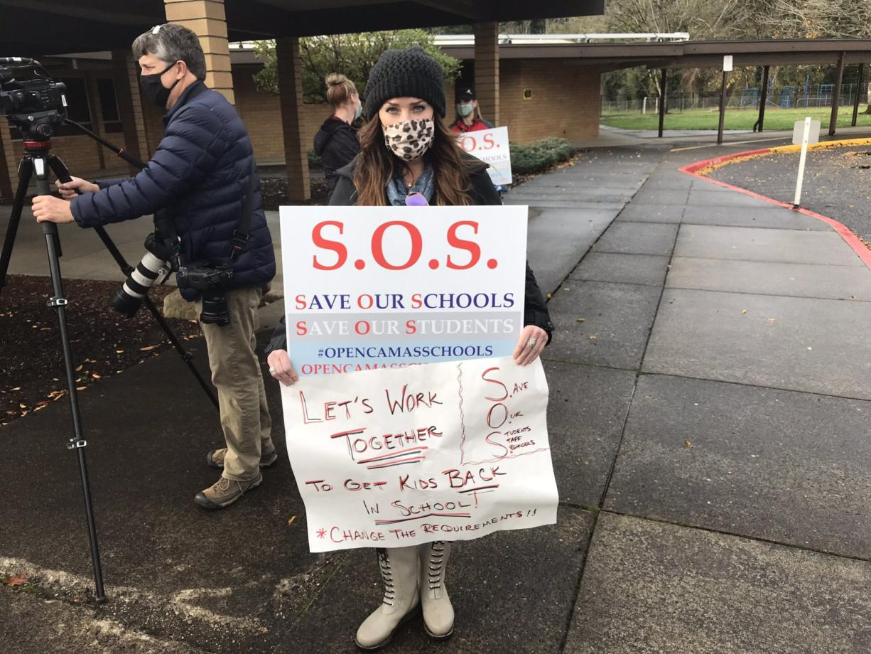 Andrea Seely has two children in the Camas School District. She says hundreds of people, concerned largely about teen suicide rates, have supported their cause.
