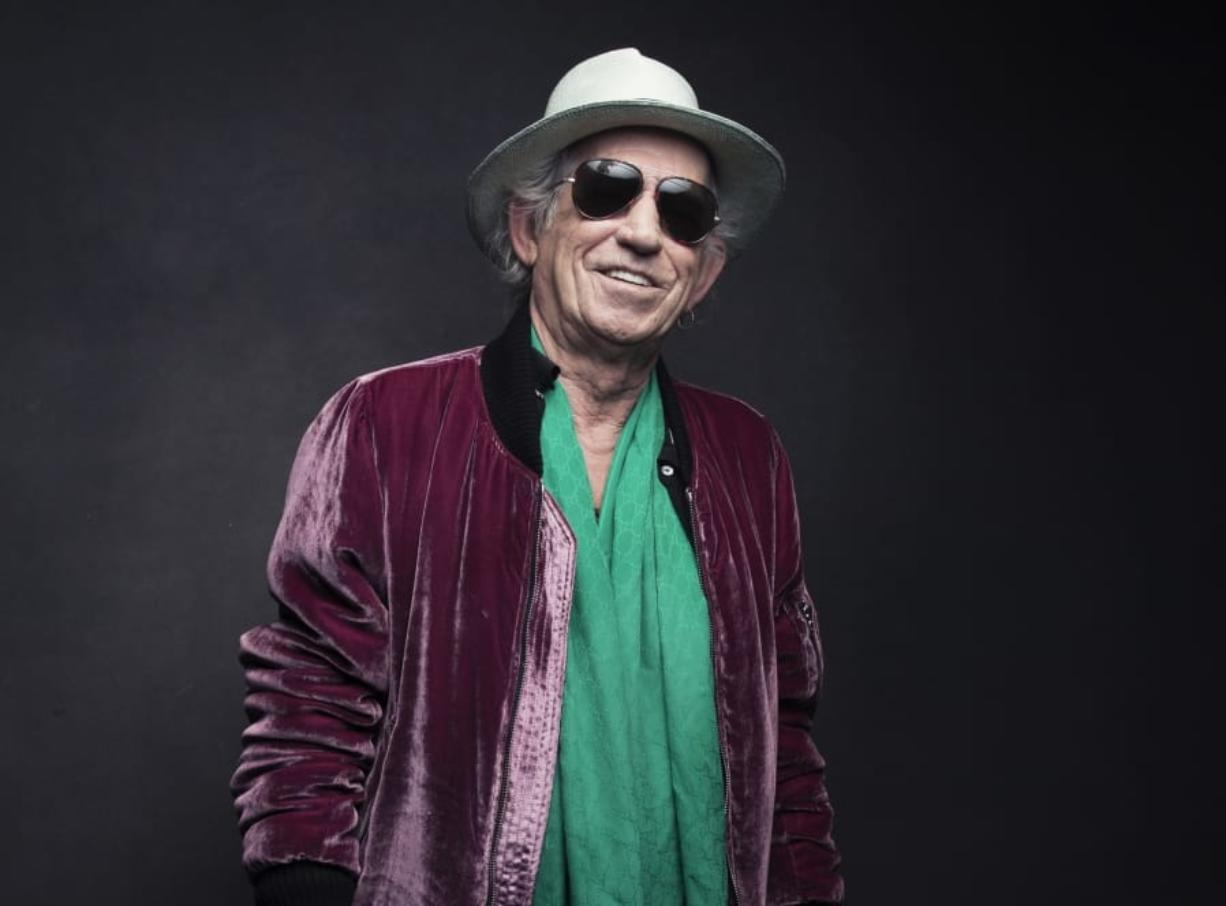 FILE - In this Nov. 14, 2016 file photo, Keith Richards of the Rolling Stones poses for a portrait in New York. On Friday, Richards is releasing a limited edition box set of his 1988 concert at the Hollywood Palladium taken during his first solo tour.
