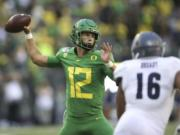 Oregon quarterback Tyler Shough is expected to be the No. 1 QB for the Ducks, who are favored to finish atop the Pac-12.
