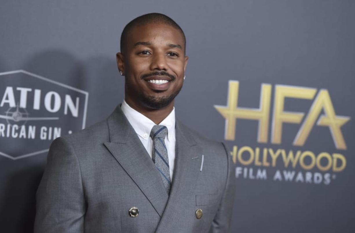 """FILE - Michael B. Jordan arrives at the Hollywood Film Awards on Nov. 4, 2018, in Beverly Hills, Calif. Jordan has been crowned as 2020's Sexiest Man Alive by People magazine. Known for his critically-acclaimed performances in """"Fruitvale Station,"""" """"Creed"""" and """"Black Panther,"""" he was revealed as this year's winner Tuesday, Nov."""