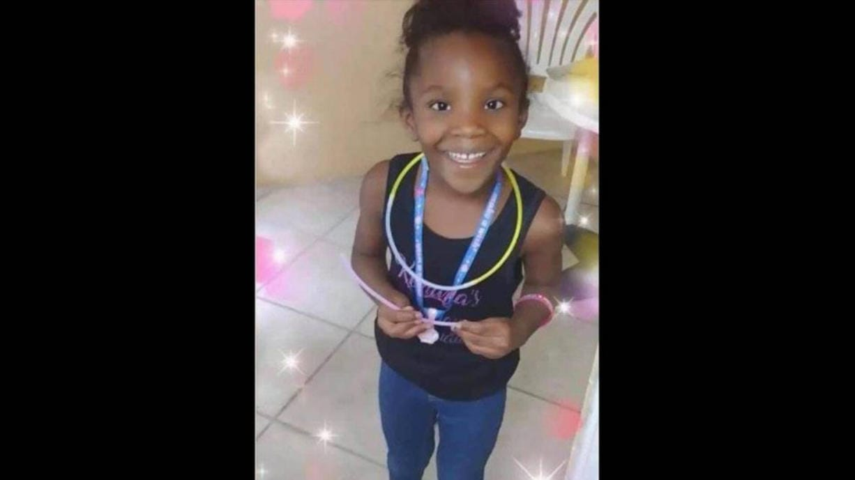 Alana Washington, 7, was killed when a gunman opened fire in front of her Brownsville home in July. Two men were later arrested and charged with the crime. Washington is one of nine children under the age of 18 who have lost their lives to gunfire in unincorporated Miami-Dade this year.