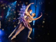 "Director Josh Murry-Hawkins and Autumn Andersen in harmonious pairing as the Cavalier and the Sugar Plum Fairy in Riverside Performing Arts' video, ""A Tale of the Nutcracker."" (Julie G Photography)"