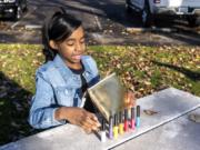 Amira Ashley, 10, talks about her lip gloss brand Boujee Vegan Girl. Amira sells the lip glosses for $10 per tube.