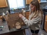 WASHOUGAL: Gause Elementary School fourth-grader Lyla Holbrook created a castle for a project about Europe in the Middle Ages.