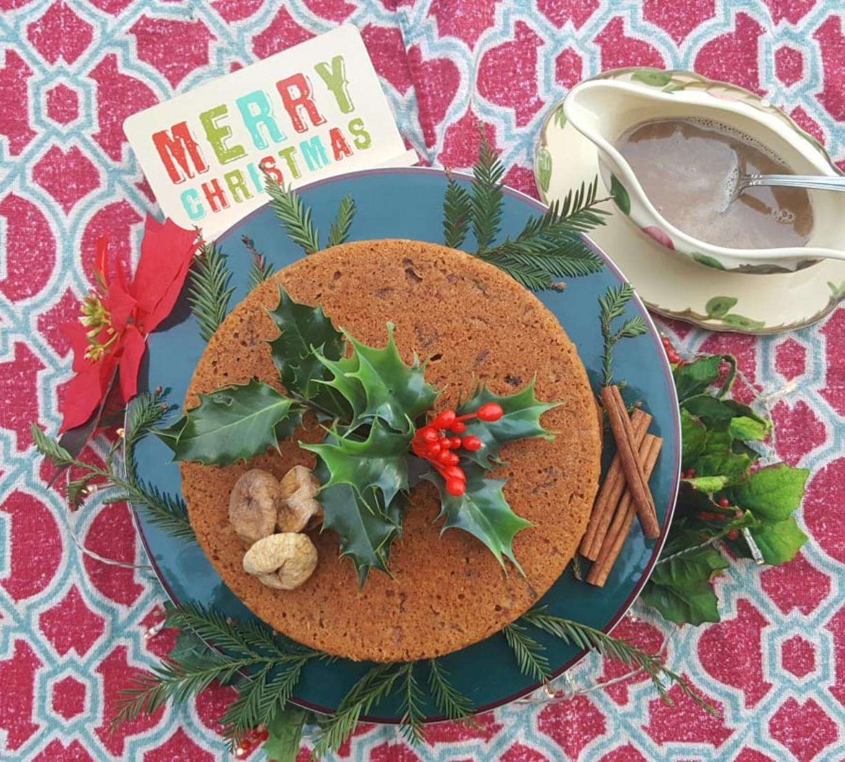 """Nothing says """"Merry Christmas!"""" like a steamed figgy pudding, full of dried fruit and the Christmas tipple of your choice."""