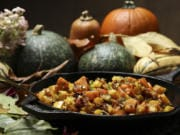 The squash and sweet potato hash makes a fabulous side dish for Thanksgiving dinner. Or, serve it topped with a fried egg and slices of smoky ham for a weekend brunch.
