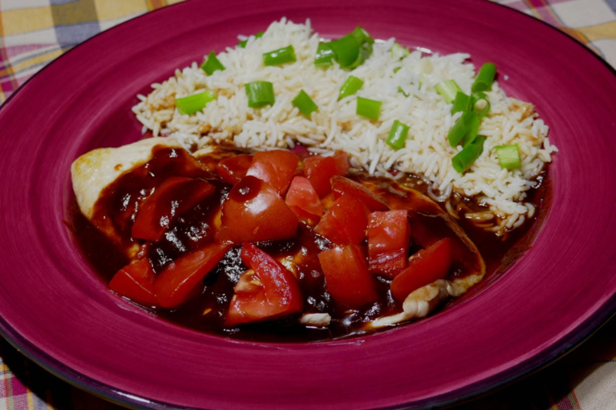 Sweet And Sour Glazed Tilapia with Basmati Rice.