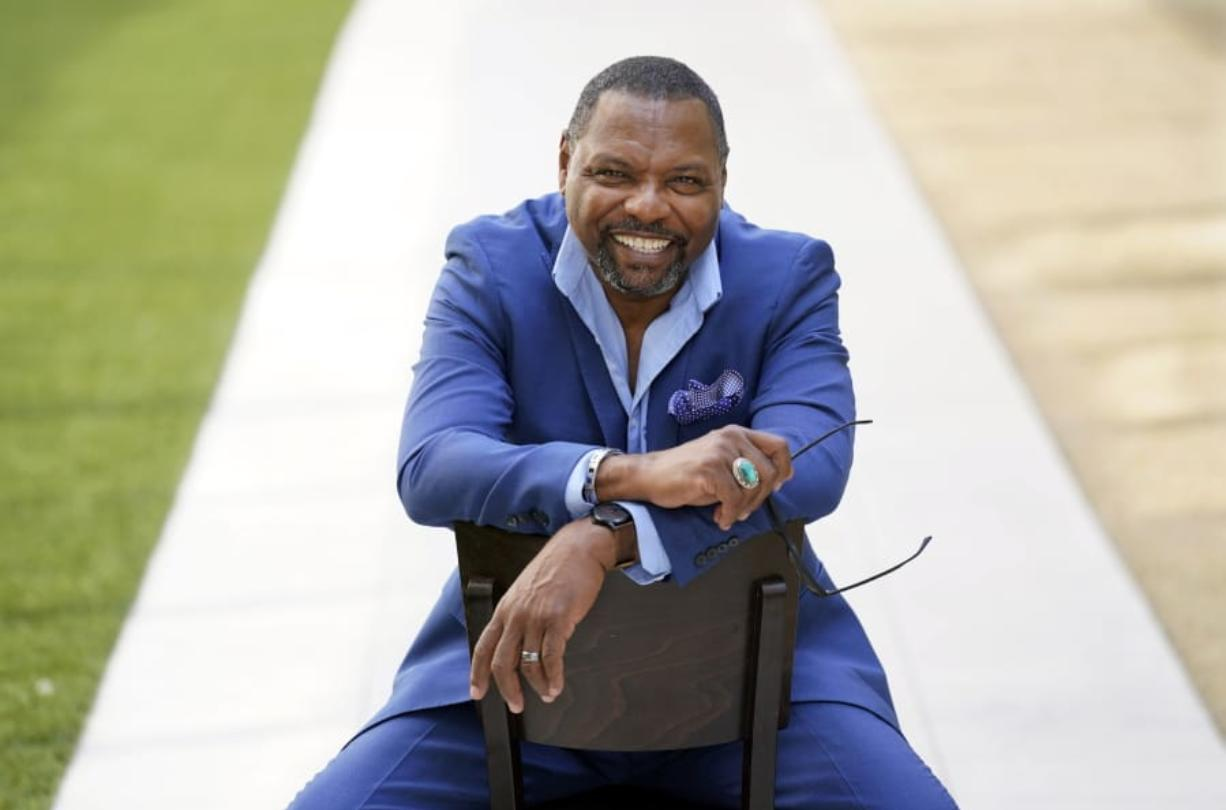 """Petri Hawkins Byrd, bailiff on the reality court television program """"Judge Judy,"""" poses for portrait, Friday, Sept. 25, 2020, in Los Angeles."""