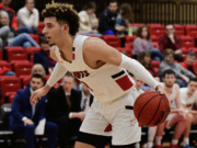 Skyview graduate Alex Schumacher averaged 13.5 points per game as a freshman last season at Saint Martin's. The Saints are one of just four teams in the Great Northwest Athletic Conference that will play basketball this winter.