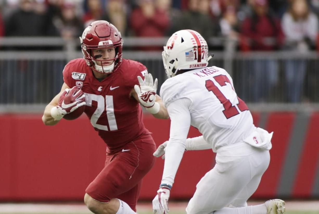 Washington State could get a game-changing addition to its lineup if Max Borghi (21) is able to make his season debut. The junior is coming off a season in which he rushed for 817 yards and 11 touchdowns while catching a team-high 86 passes for 597 yards and five more TDs. He missed the Cougars' first two games of this season with an undisclosed injury, but he returned to practice this week.