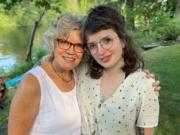 Contributions from donors helped domestic violence advocates Margo Priebe (left) and Madeline Thompson successfully transition their advocacy for survivors from face to face to remote.