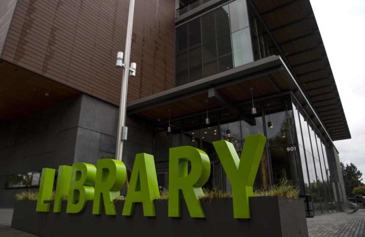 Branches of Fort Vancouver Regional Libraries, including the one in downtown Vancouver shown here, are accepting returns, as well as checking out books via curbside pickup.