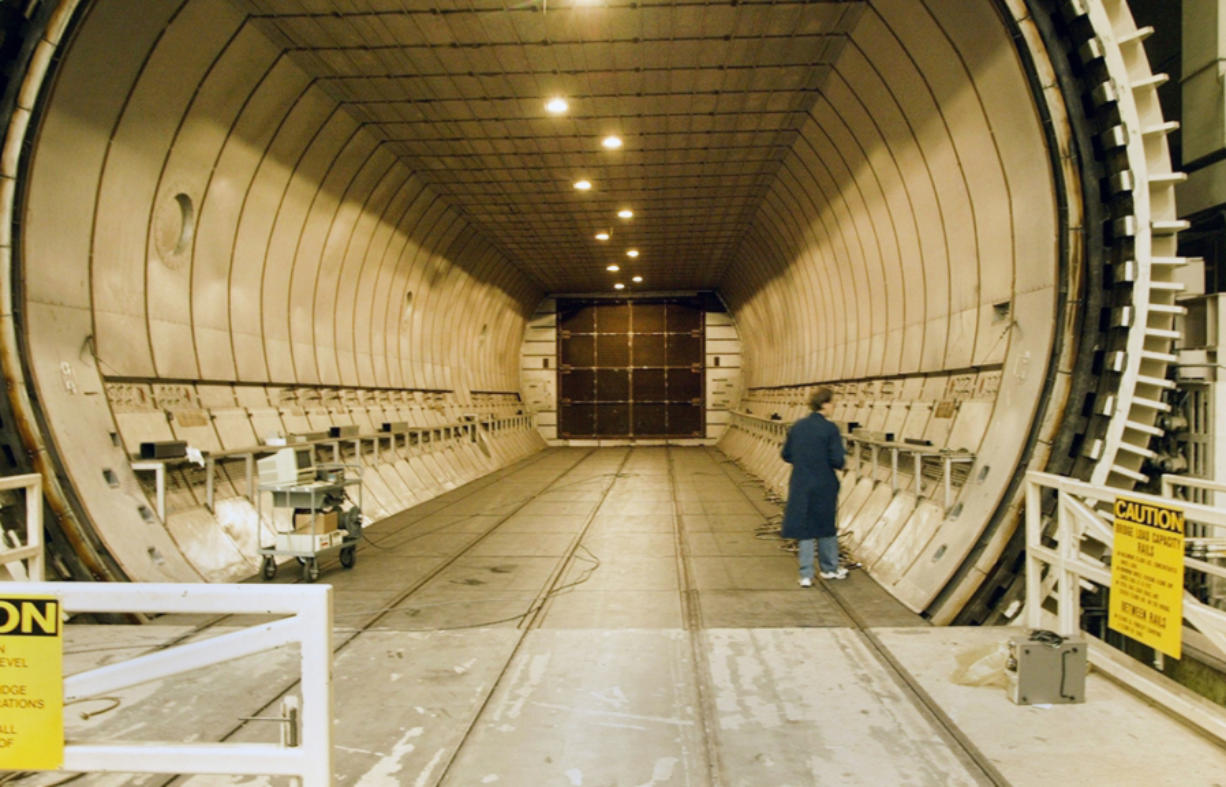 One of two 25-by-90-foot autoclaves at Boeing's Advanced Developmental Composites research center in Seattle.