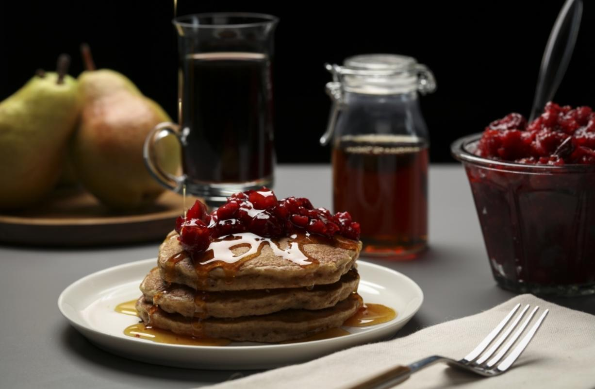Pancakes with easy-to-prepare homemade jam.