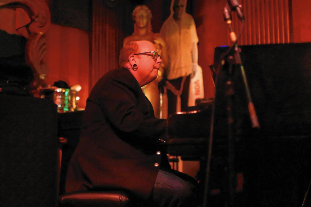 Mike Jones plays the piano during a performance in 2017 at The Green Mill in Chicago.