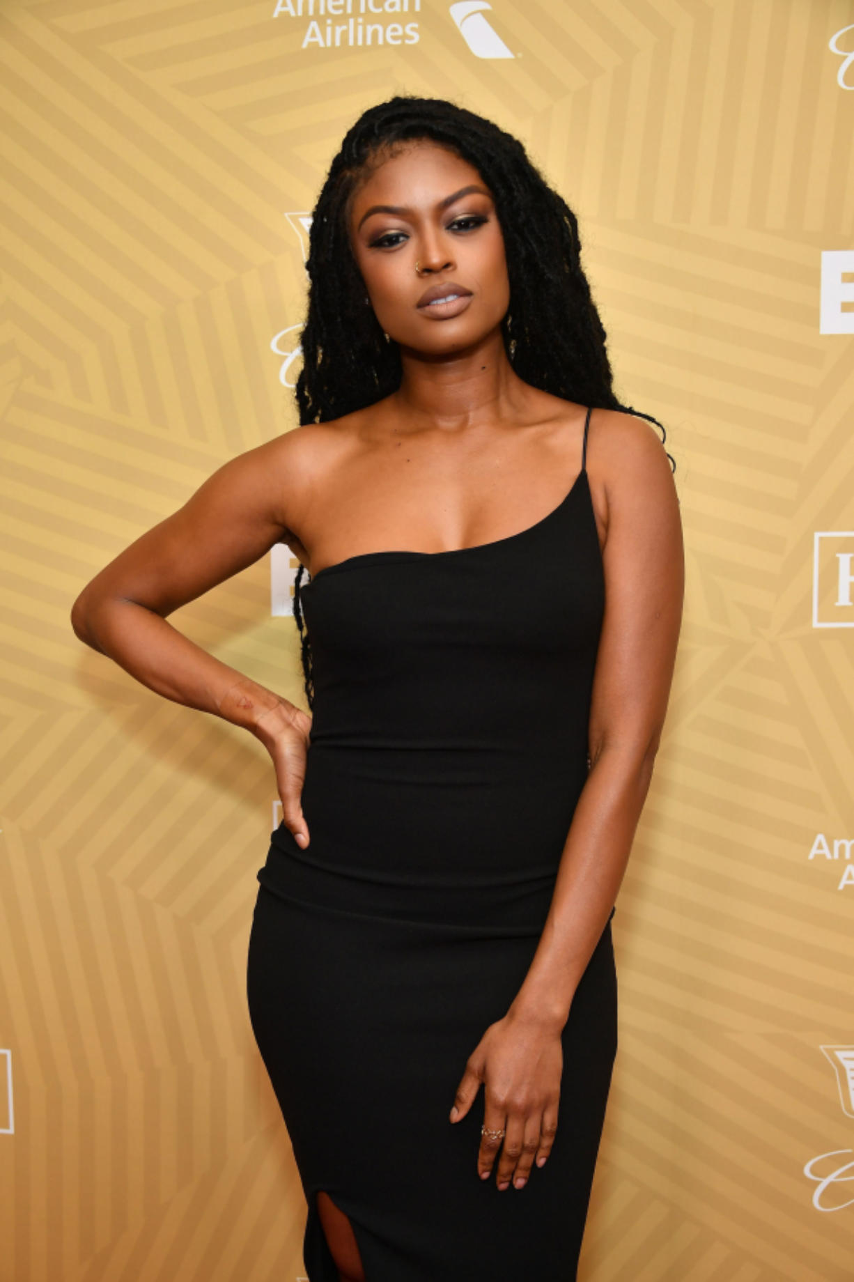 Javicia Leslie attends the American Black Film Festival Honors Awards Ceremony at The Beverly Hilton Hotel on Feb. 23, in Beverly Hills, Calif.