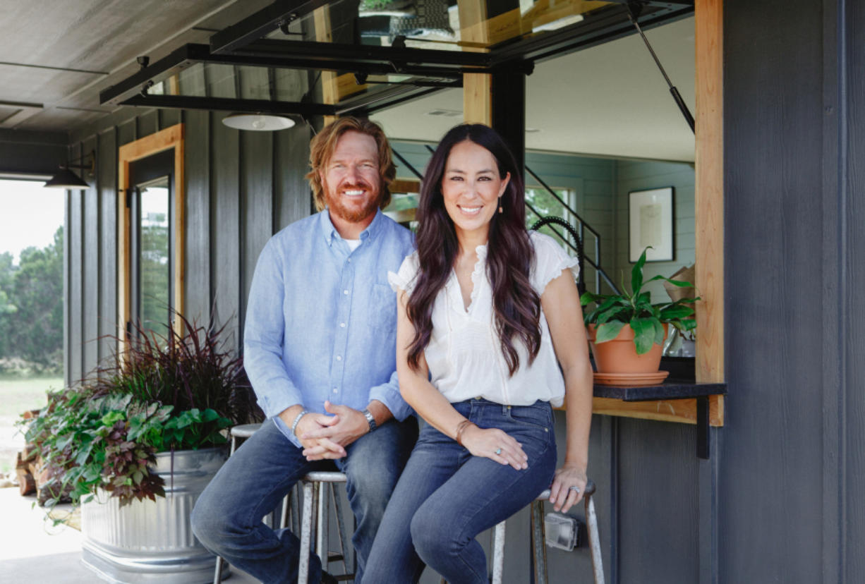 """Chip and Joanna Gaines on HGTV's """"Fixer Upper."""" Five seasons of the show are available on Hulu."""