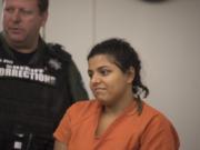 Esmeralda Lopez-Lopez appeared in court on Oct. 4, 2019.
