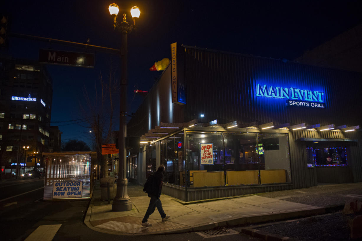 "Restaurants will remain restricted to outdoor seating or take-out until at least Jan. 11, forcing many owners to choose between closing or operating at a loss. Main Event's two Vancouver locations remain open. ""We're trying to stay relevant,"" said co-owner Jason Fish."