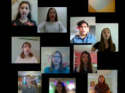 """RIDGEFIELD: Seventh grade students from View Ridge Middle School sang """"Rainy Day Getaway."""""""