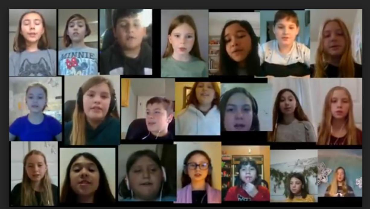 "RIDGEFIELD: Fifth grade students at Sunset Ridge Intermediate School sang ""Clap Your Hands and Sing Hallelujah."""