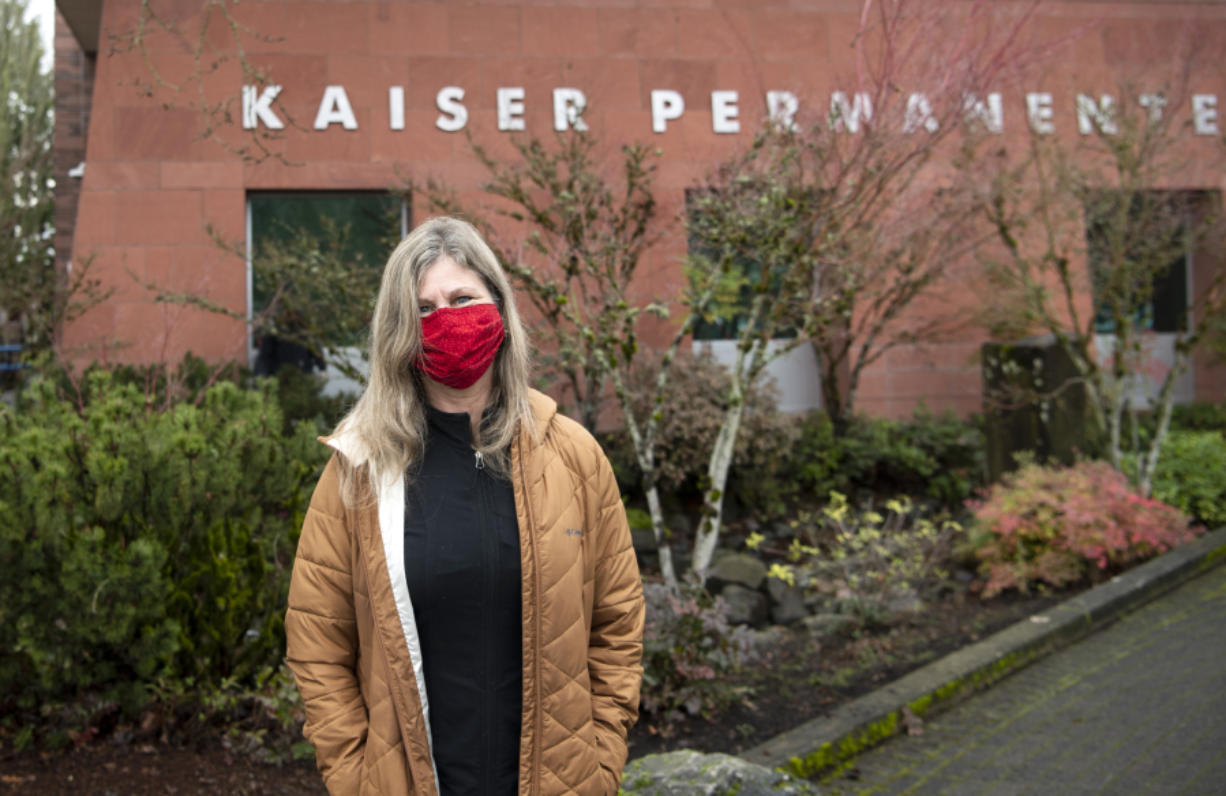 """Kerry Martinson, 58, has worked as a registered dietitian with Kaiser Permanente for nearly 30 years. During the pandemic, she has seen more obesity referrals, she said. """"The joke is, it's the COVID-19 (pounds) instead of the 'freshman 15,' """" she said. She has been working with many patients on eating a balanced diet during the pandemic."""