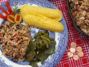 Hoppin' John is a Southern dish of African origin that's often served to mark the New Year. Whoever finds the penny hidden in their portion is said to have good luck all year long.