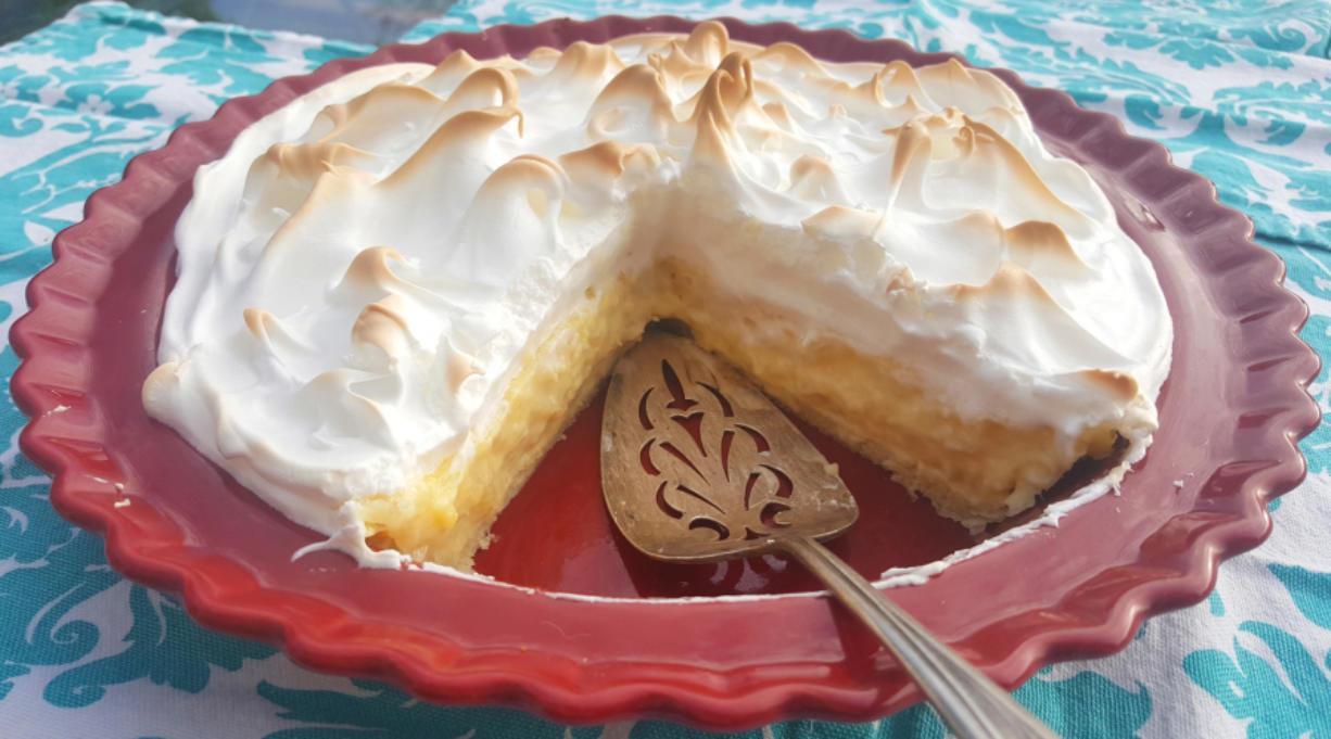 This luscious pie was one recipe my mom made again and again, sometimes with the meringue topping and sometimes without.