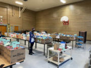 STEVENSON: Stevenson-Carson School District distributed special holiday meal boxes to help feed families in need on Dec.