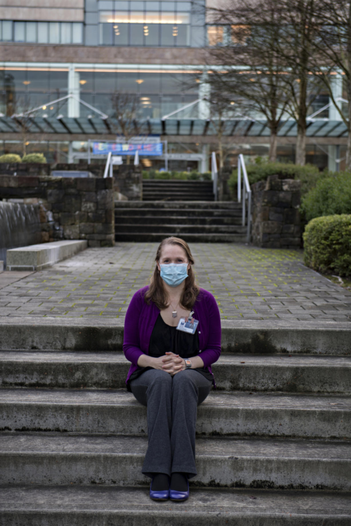 Jaellah Thalberg, a genetic counselor with the Legacy Health system, is one of two genetic counselors for the system in Clark County. She splits her time between Legacy Salmon Creek Medical Center and Legacy Emanuel Medical Center. During the pandemic, she works from her basement office in Hazel Dell.