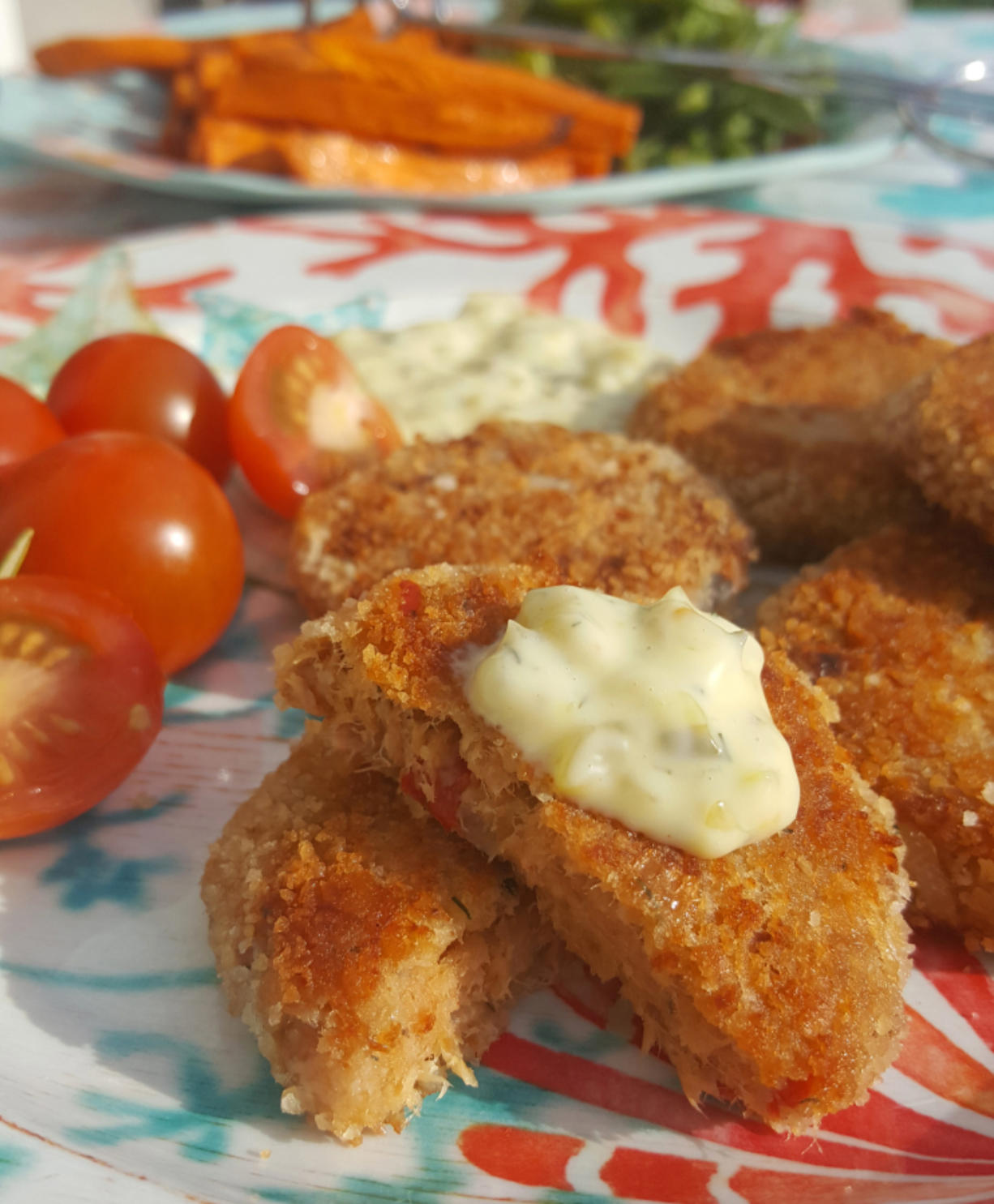 Tuna croquettes or tuna patties, fried to a golden brown, are a delicious way to stretch a can or two of tuna.