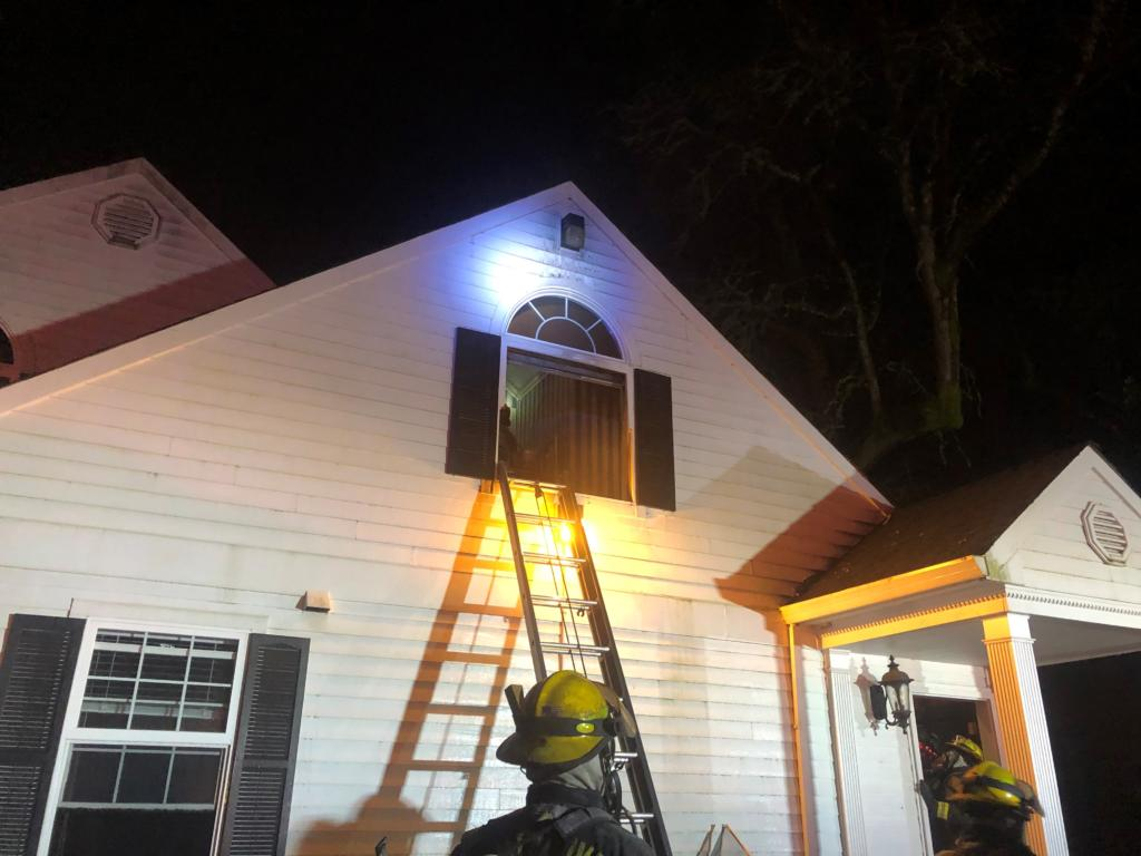 Vancouver firefighters doused an early Sunday morning fire at 11034 N.E. 94th Ave. Two residents suffered smoke inhalation but did not go to the hospital.