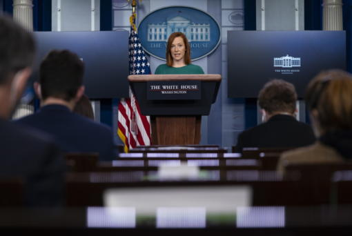 White House press secretary Jen Psaki speaks during a press briefing at the White House, Monday, Jan. 25, 2021, in Washington.
