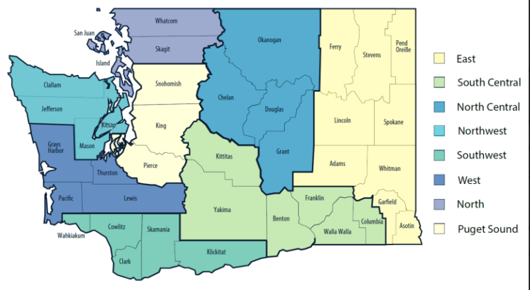 The state has grouped counties into regions to gauge COVID-19 activity for reopening, rather than county by county.