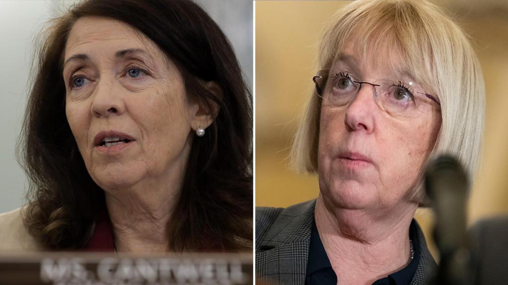 Sen. Maria Cantwell, left, and Sen.