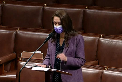 Rep. Jaime Herrera Beutler, R-Battle Ground, speaks on the House floor Wednesday morning. She said Tuesday night that she will vote to impeach President Donald Trump.