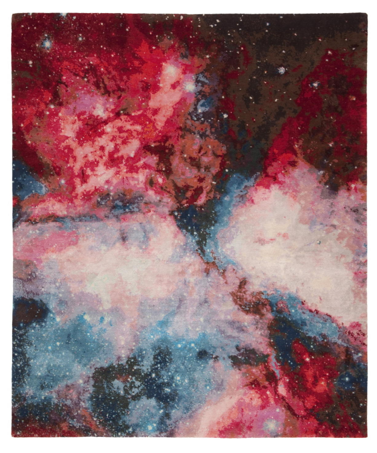This image provided by Jan Kath Design GmbH shows an outer space themed rug. German designer Jan Kath has created a rug collection called Spacecrafted inspired by imagery of gas clouds and asteroid nebulae from the Hubble telescope.