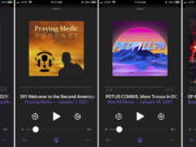 This combination of photos shows various podcasts, Friday, Jan. 15, 2021. Major social platforms have been cracking down on the spread of misinformation and conspiracy theories in the wake of the Jan. 6 riot at the Capitol. But Apple and Google, among others, have left open a major loophole: Podcasts.