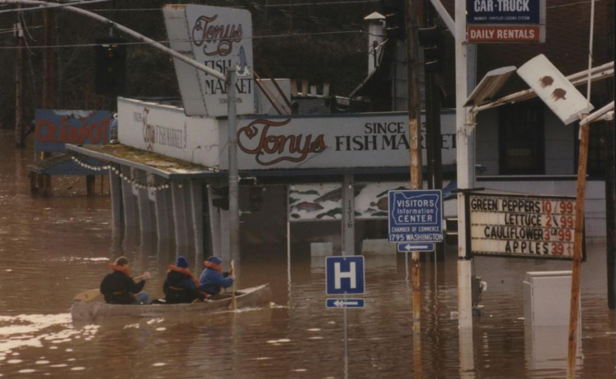The flooding in 1996 devastated some Oregon towns.